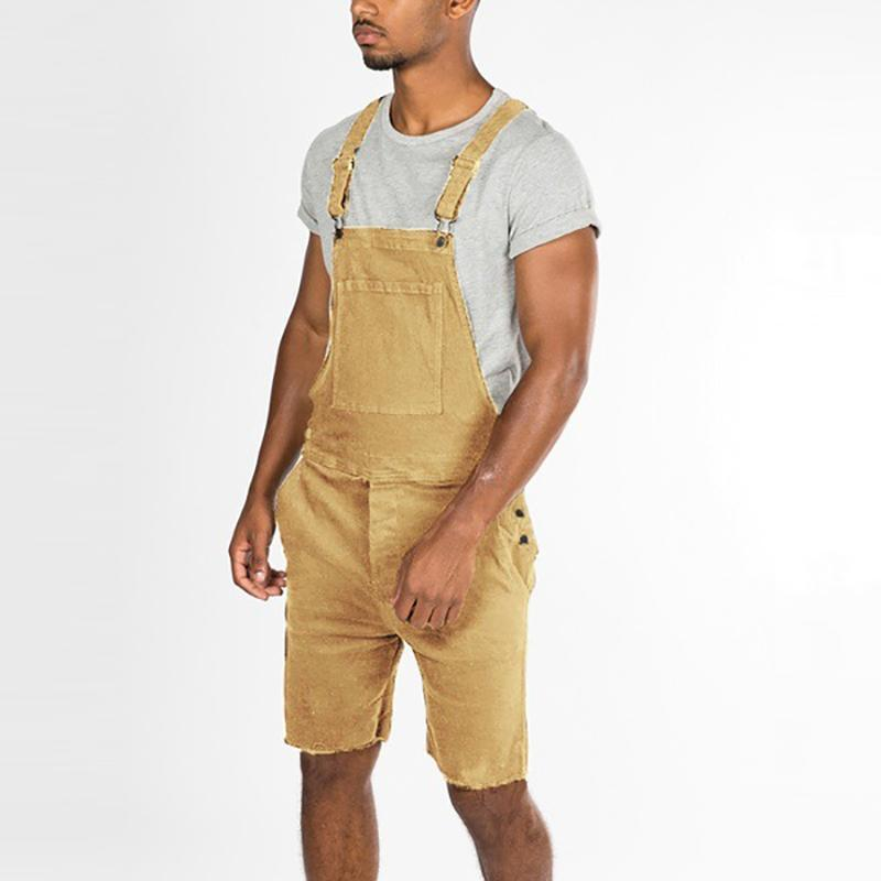 Commuter Men's Fashion Pocket Denim Workwear Strap Shorts
