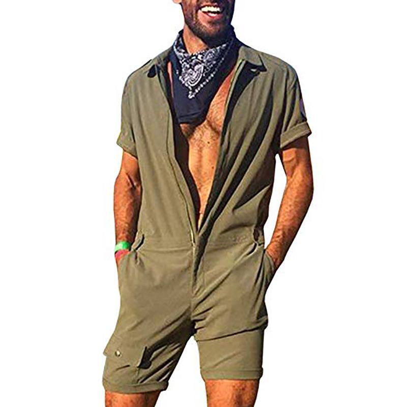 Street Fashion Slim Fit Pure Colour Romper