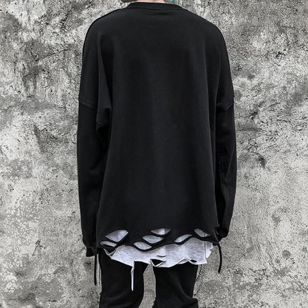 Street Fashion Broken Hole Sweatshirt