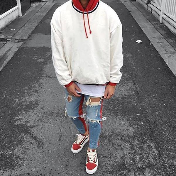 Men's Solid Color Hooded Casual Sweatshirt