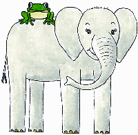 Meet Elephant E and Frog F