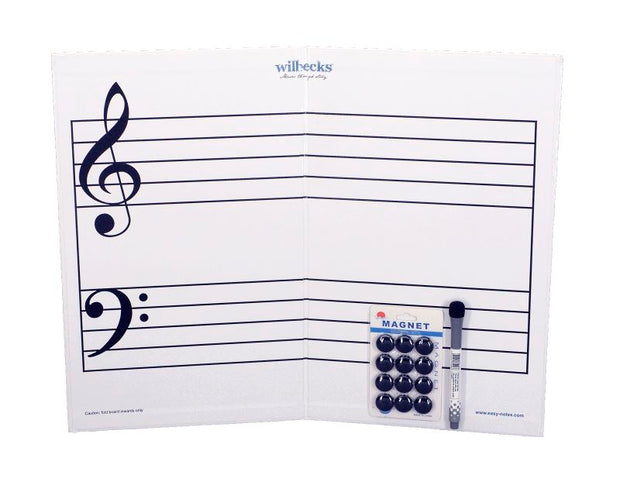 Large Magnetic Stave with 12 Magnetic Buttons and Whiteboard Marker