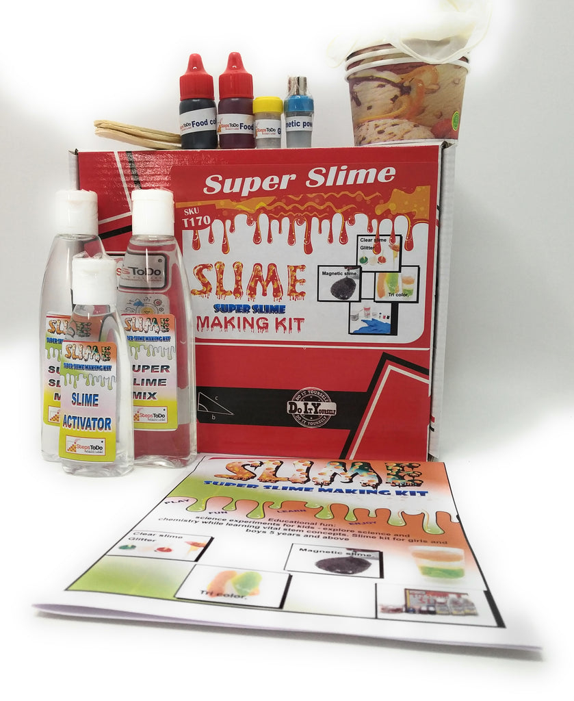 Magnetic Crystal Clear Glittery Slime Making Kit for Kids