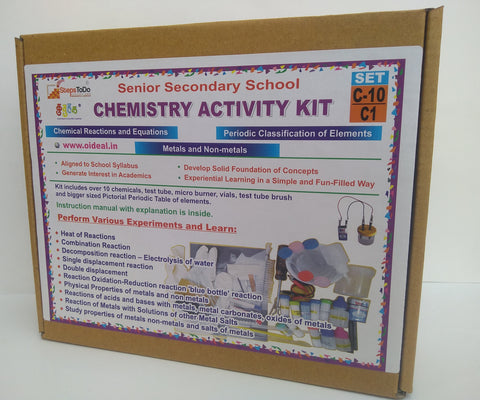 C10-C1 - Class 10 Chemistry (Types of Reaction, Metals & Non-Metals) - Hands On Learning Kit