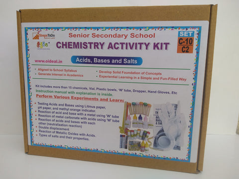 #C10-C2 - Class 10 Chemistry (Acid, Bases and Salts) - Hands On Learning Kit