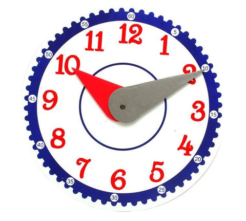 #T102 - Dummy Clock. Big Size. Useful to Teach Time to Kids