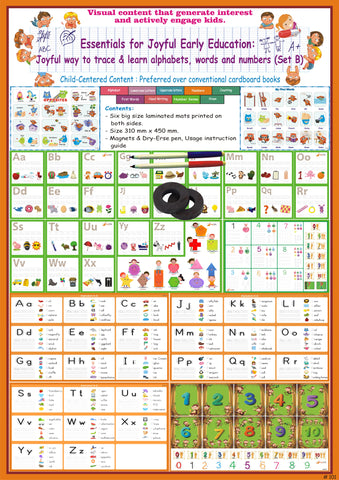 #T2 - Essentials for Early Learning (Set B): Joyful way to Trace & Learn Alphabets, Words and Numbers