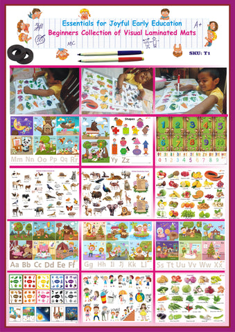#T1 - Essentials for Early Learning (Set A): Beginners Collection of Laminated Re-writable Mats