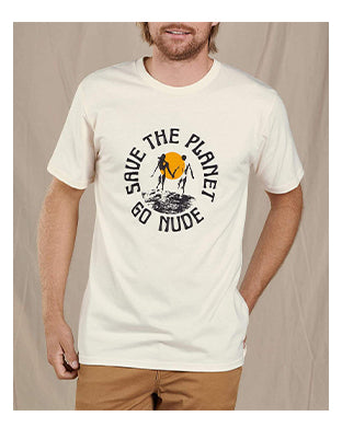 Save the Planet Go Nude Tee