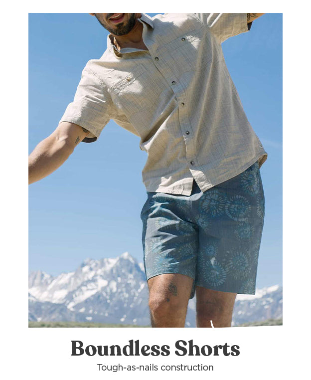 The Men's Boundless Pull On Shorts - Tough-As-Nails Construction
