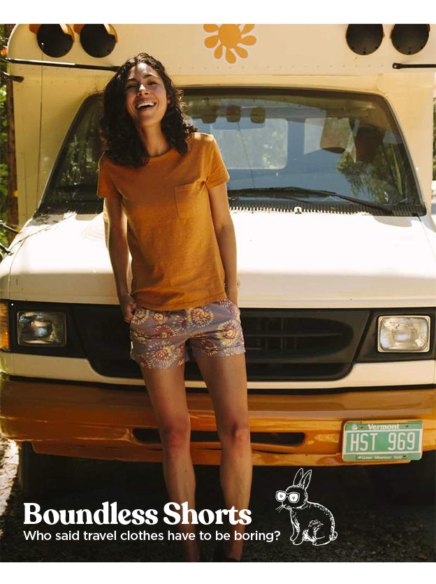 Women's Boundless Shorts - Who said travel clothes have to be boring?