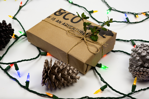 Brown recycled paper wrapping