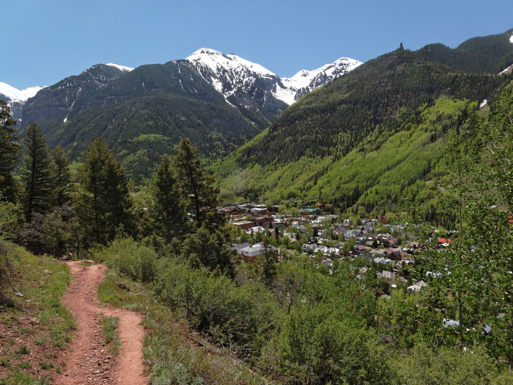The Jud Weibe Trail is easily accessible by foot from downtown Telluride.