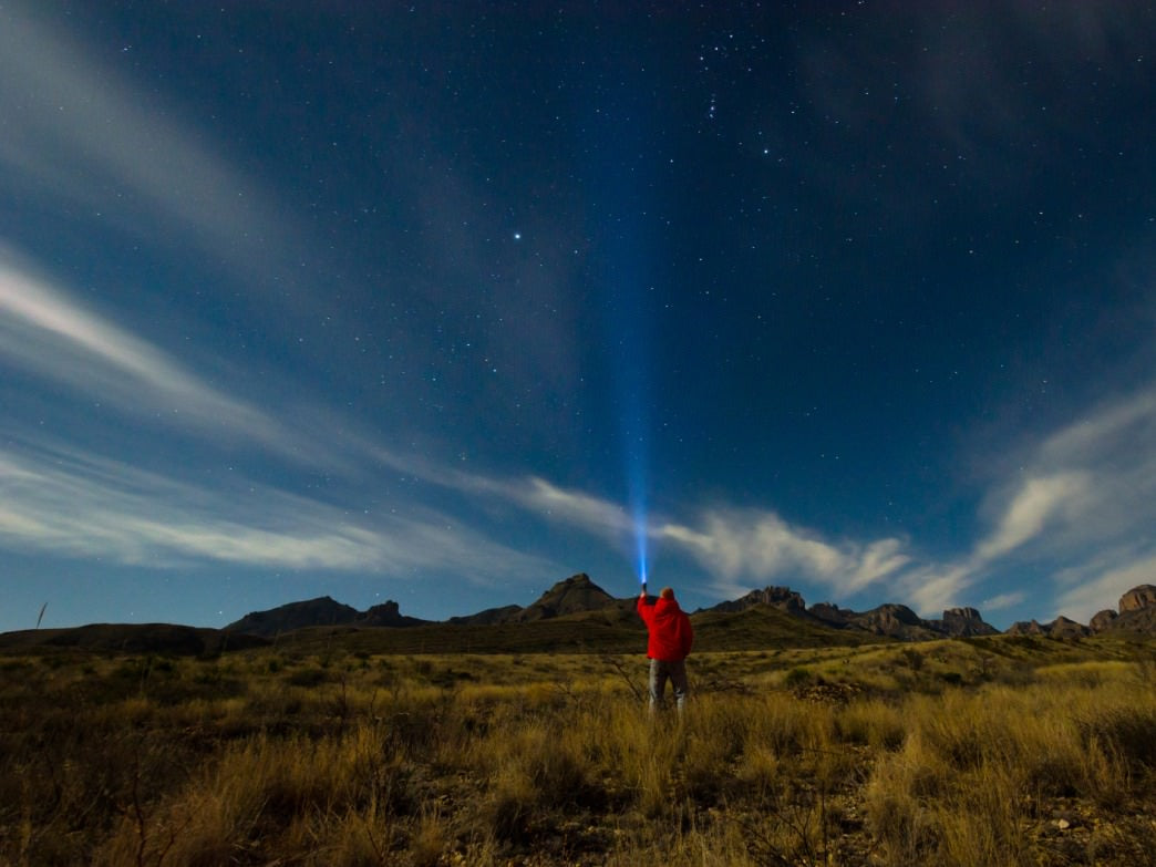 Stargazing in Big Bend National Park.