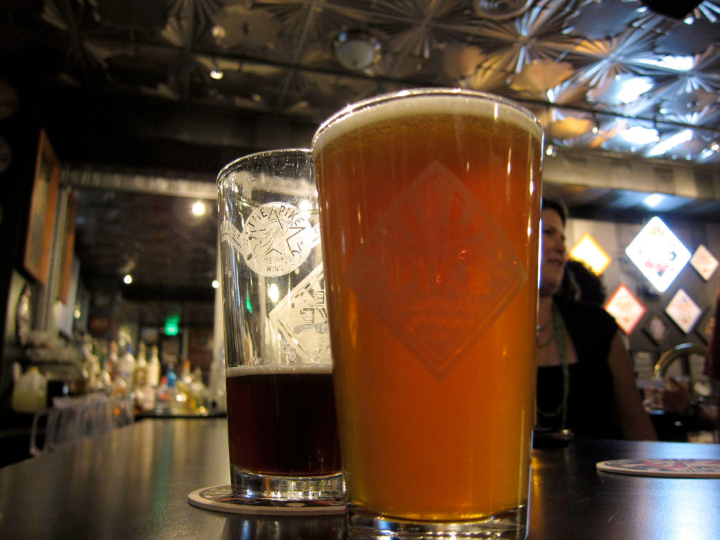Grab a flight at the Pike Brewing Company.