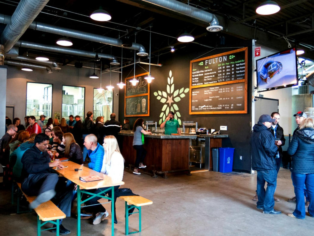 The Fulton Taproom is a fantastic place to grab a brew after a day exploring the Cedar Lake Trail
