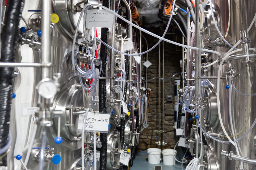 Behind the scenes at Innovation Brewing.