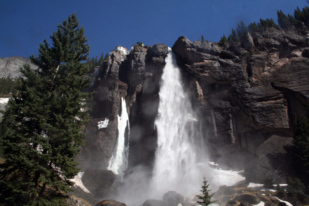 Bridal Veil Falls is the highest free-falling waterfall in the state of Colorado.
