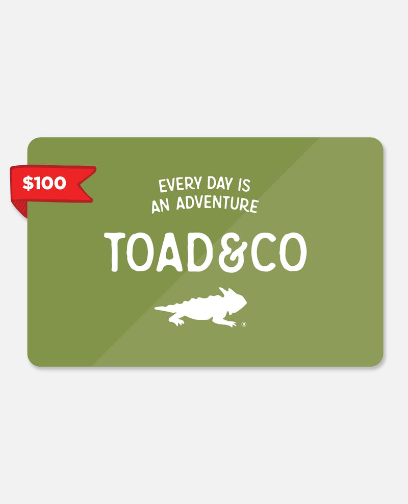 Toad Gift Certificate $100