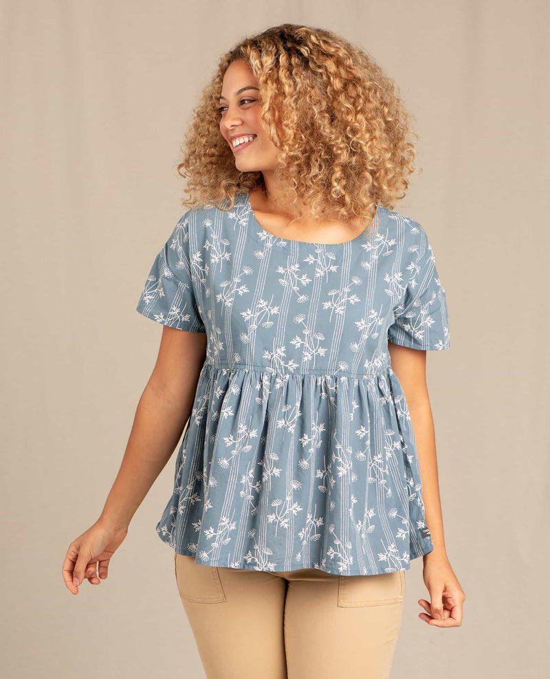 Willet Peplum Short Sleeve Shirt