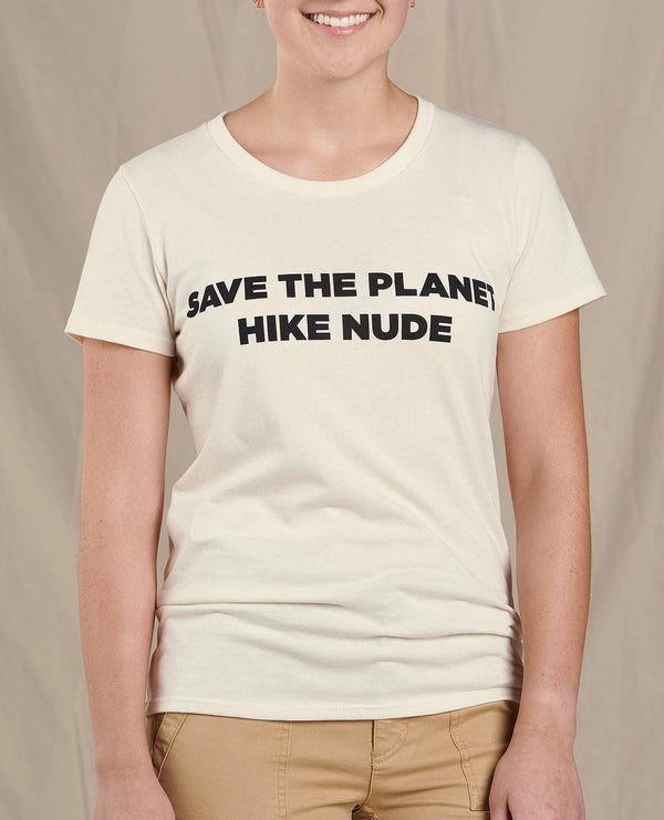 Women's Save The Planet Hike Nude Short Sleeve Tee