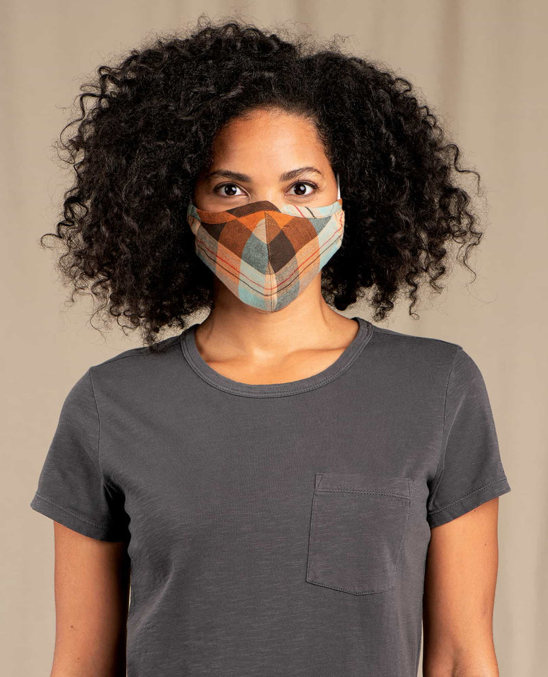 Sustainable Organic Cotton Flannel Face Mask (Pack of 3)
