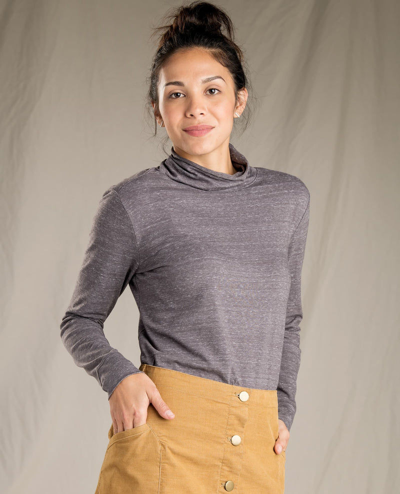 Kinman T-Neck Long Sleeve Top