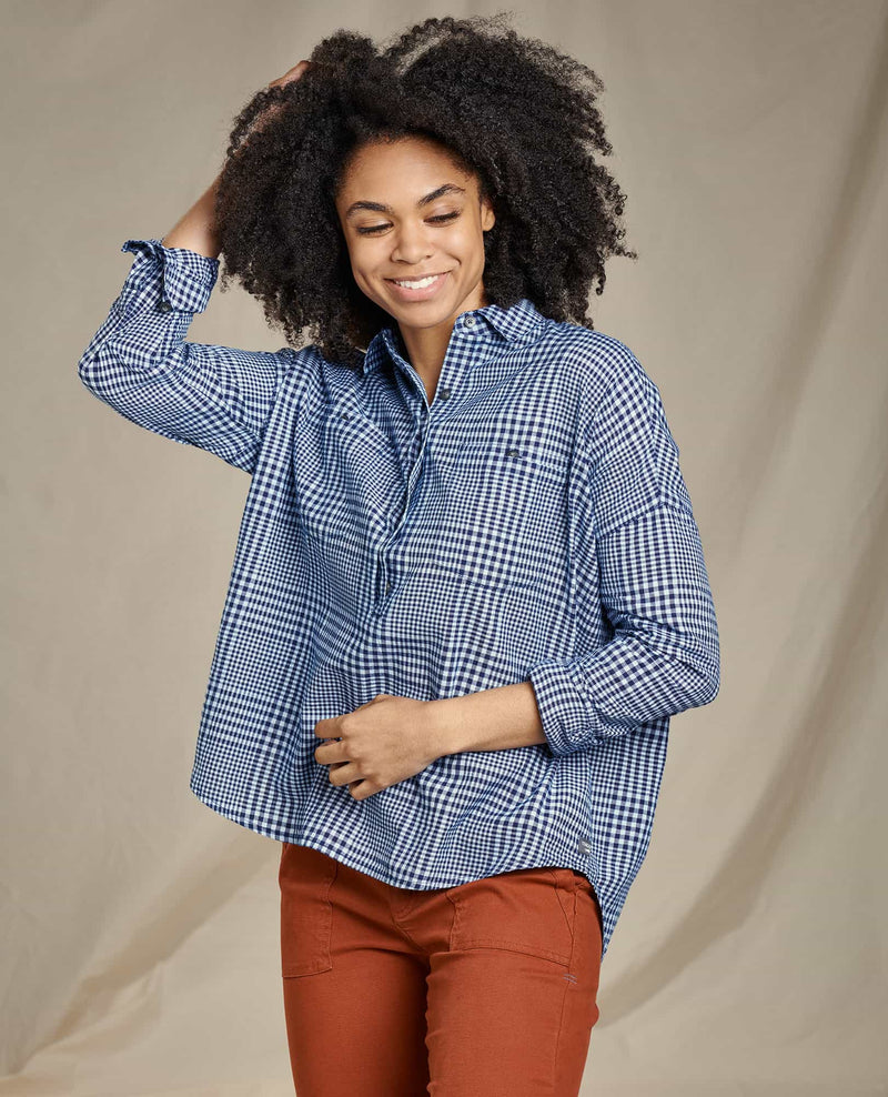 Indigo Wells Long Sleeve Popover