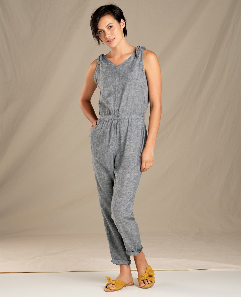 Tara Hemp Sleeveless Jumpsuit