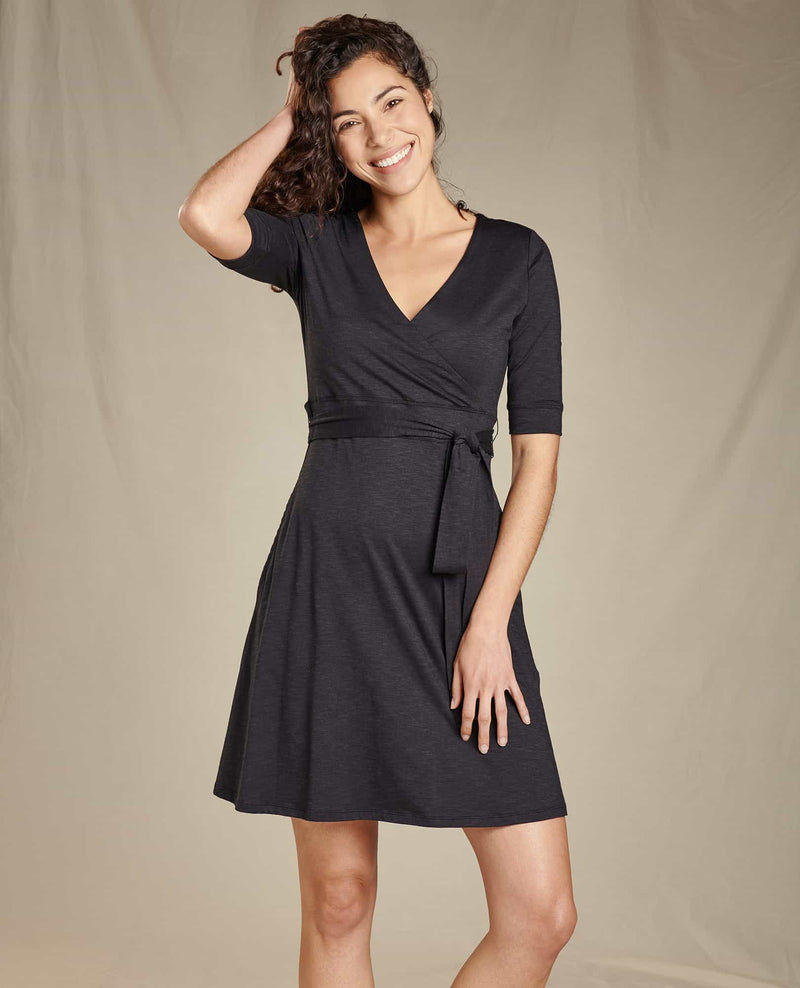 Cue Wrap Cafe Dress