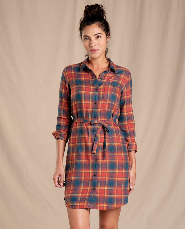Re-Form Flannel Shirtdress