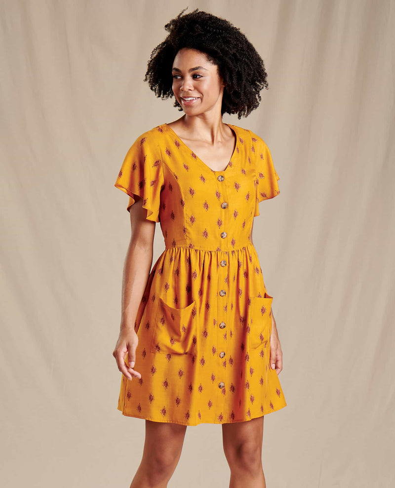 Hillrose Button-Up Short Sleeve Dress