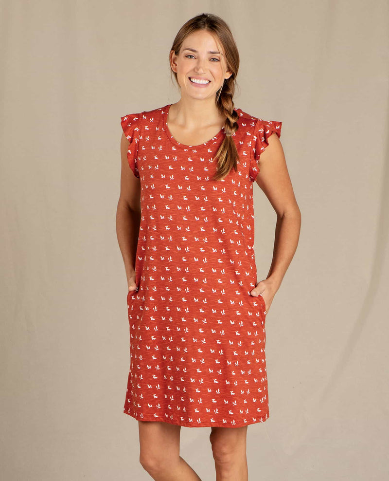 Rufflita Short Sleeve Dress