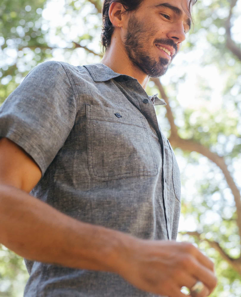 Taj Hemp Short Sleeve Slim Shirt