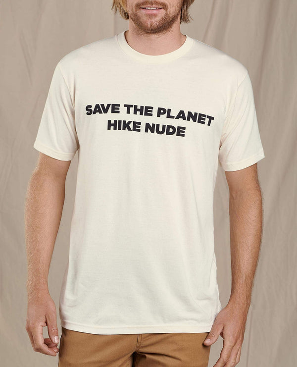 Men's Save The Planet Hike Nude Short Sleeve Tee