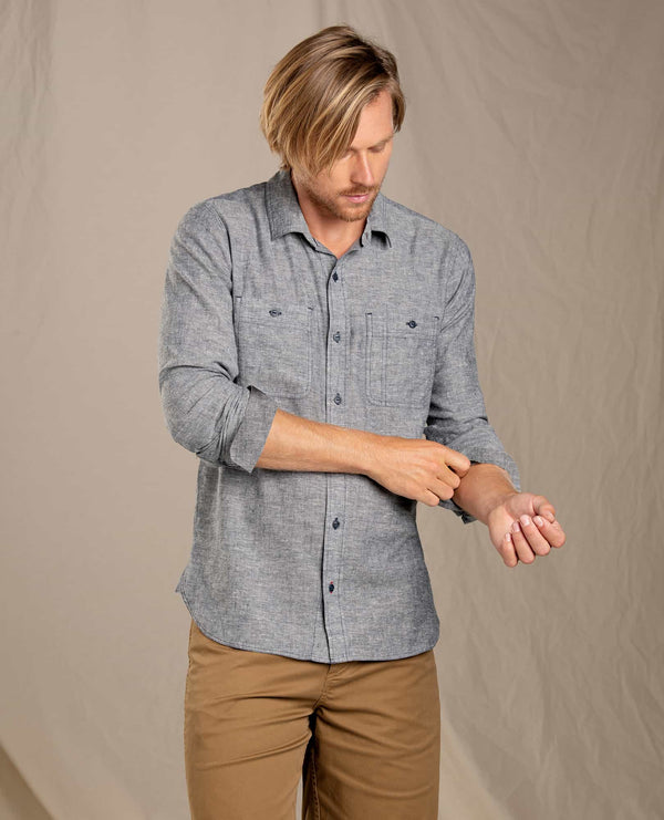 Taj Hemp Long Sleeve Slim Shirt