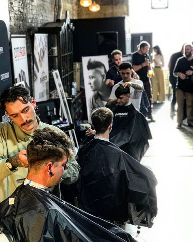 Jack Regan Competing in the Barber Brands Barber of the Year Competition