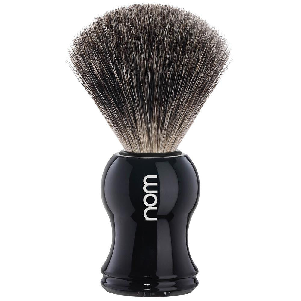 NOM Pure Badger Shaving Brush Black