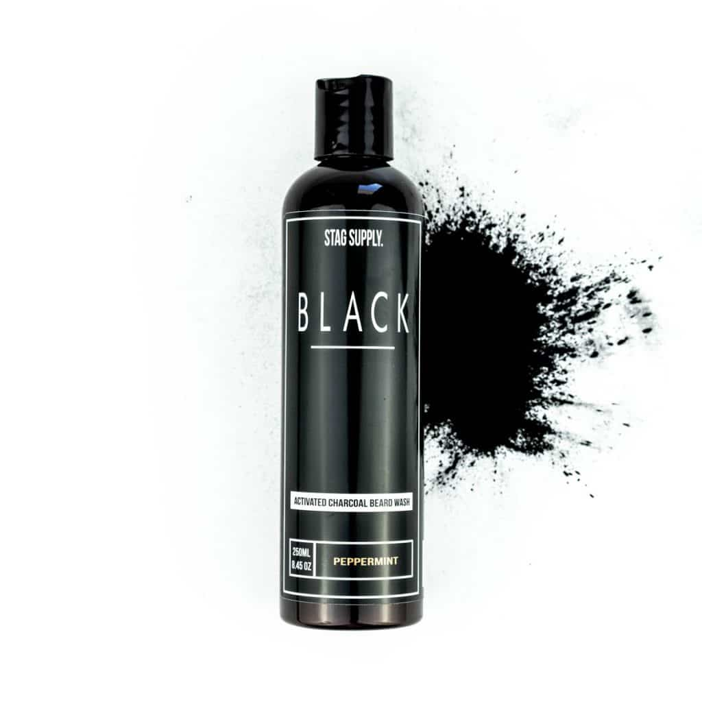 Stag Supply Black Activated Charcoal Beard Wash 250ml