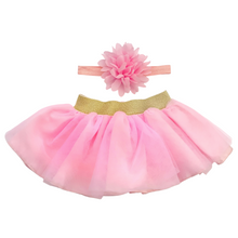 Load image into Gallery viewer, Pink Baby Tutu & Headband
