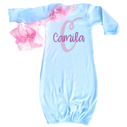 Personalized Baby Bodysuit or Gown