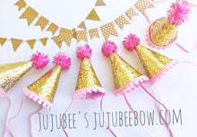 Load image into Gallery viewer, Mini Birthday Party Hat, Rainbow Birthday Party Hat, NUMBERS 1/2-5