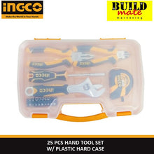 Load image into Gallery viewer, INGCO Hand Tool Set 25pcs W/Plastic Hard Case HKTH10258