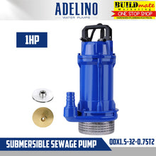 Load image into Gallery viewer, Adelino Submersible Sewage Pump 1HP QDX1.5-32-0.75T2