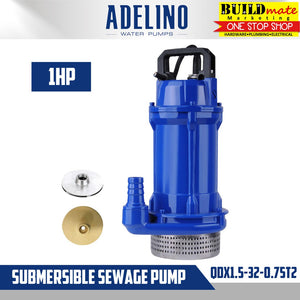 Adelino Submersible Sewage Pump 1HP QDX1.5-32-0.75T2