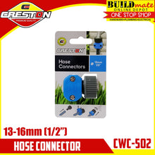 "Load image into Gallery viewer, CRESTON Hose Connector for Garden Hose 13mm 1/2"" CWC-502"
