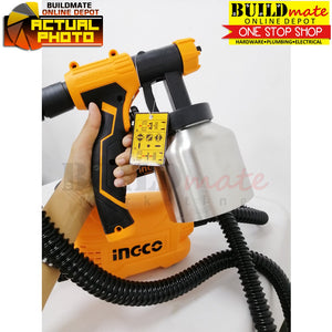 INGCO Floor Based Electric Spray Gun STAINLESS CAN 500W SPG5008-2 +FREE Tapemeasure