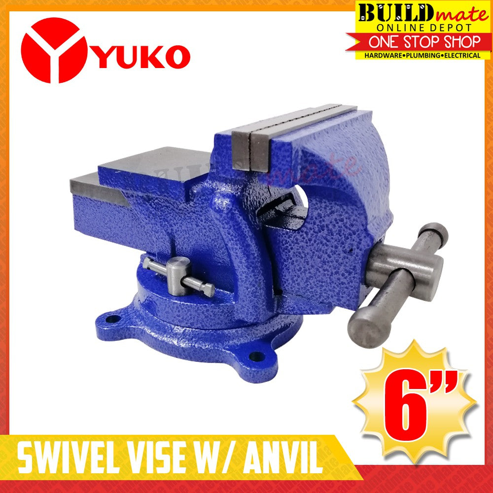YUKO Bench Swivel Vise with Anvil 6
