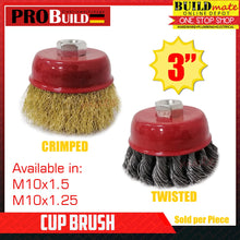"Load image into Gallery viewer, PROBUILD Cup Brush CRIMPED/TWISTED 3"" M10"