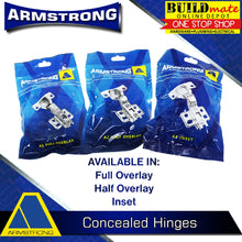 Load image into Gallery viewer, ARMSTRONG Concealed Hinges Regular for Cabinet DIY (1PAIR)